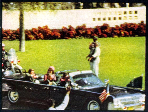 Still from the Zapruder film, which was shot on Kodachrome